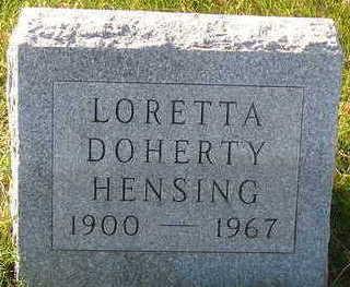 HENSING, LORETTA - Sioux County, Iowa | LORETTA HENSING