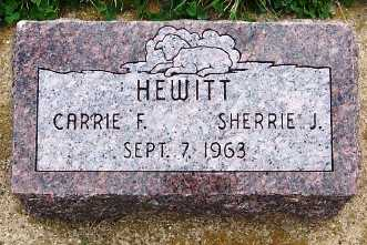 HEWITT, CARRIE F. - Sioux County, Iowa | CARRIE F. HEWITT