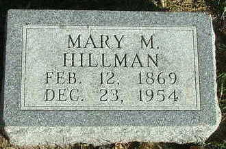 HILLMAN, MARY M. - Sioux County, Iowa | MARY M. HILLMAN