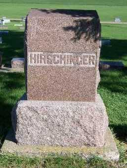 HIRSCHINGER, HEADSTONE - Sioux County, Iowa | HEADSTONE HIRSCHINGER