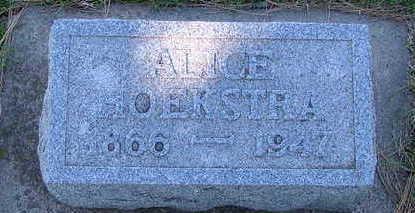 HOEKSTRA, ALICE - Sioux County, Iowa | ALICE HOEKSTRA
