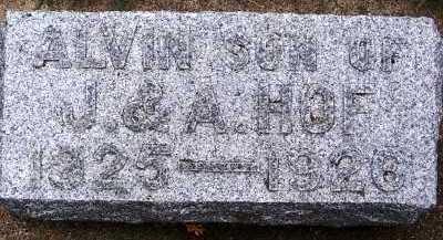 HOF, ALVIN (1925-1926) - Sioux County, Iowa | ALVIN (1925-1926) HOF