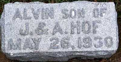 HOF, ALVIN (SON OF J.& A.) - Sioux County, Iowa | ALVIN (SON OF J.& A.) HOF
