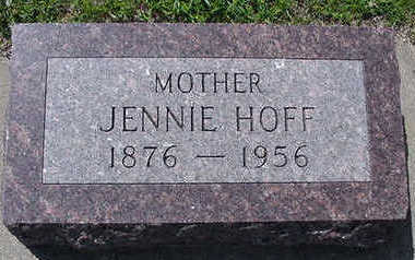 HOFF, JENNIE - Sioux County, Iowa | JENNIE HOFF