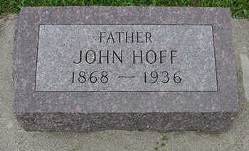 HOFF, JOHN - Sioux County, Iowa | JOHN HOFF