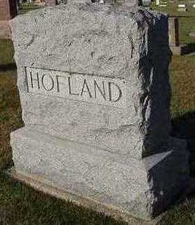 HOFLAND, HEADSTONE - Sioux County, Iowa | HEADSTONE HOFLAND
