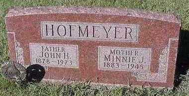 HOFMEYER, MINNIE J. (MRS. JOHN H. ) - Sioux County, Iowa | MINNIE J. (MRS. JOHN H. ) HOFMEYER