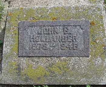 HOLLANDER, JOHN G. - Sioux County, Iowa | JOHN G. HOLLANDER