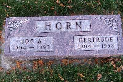 HORN, JOE A. - Sioux County, Iowa | JOE A. HORN