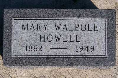 WALPOLE HOWELL, MARY - Sioux County, Iowa | MARY WALPOLE HOWELL