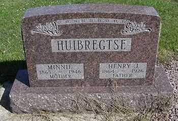 HUIBREGTSE, MINNIE  (MRS. HENRY) - Sioux County, Iowa | MINNIE  (MRS. HENRY) HUIBREGTSE