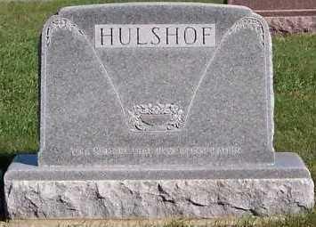 HULSHOF, HEADSTONE - Sioux County, Iowa | HEADSTONE HULSHOF