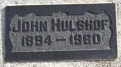 HULSHOF, JOHN - Sioux County, Iowa | JOHN HULSHOF