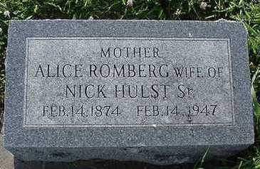 HULST, ALICE (MRS. DICK) - Sioux County, Iowa | ALICE (MRS. DICK) HULST