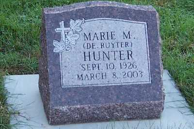 HUNTER, MARIE - Sioux County, Iowa | MARIE HUNTER
