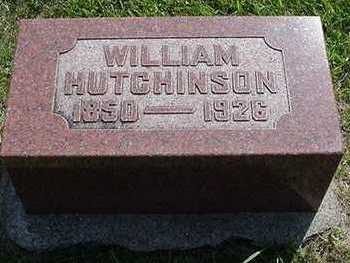 HUTCHINSON, WILLIAM - Sioux County, Iowa | WILLIAM HUTCHINSON