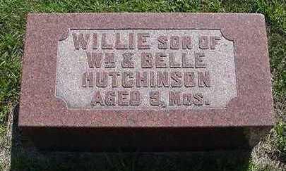 HUTCHINSON, WILLIE - Sioux County, Iowa   WILLIE HUTCHINSON