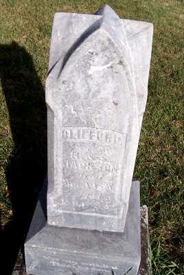 JACKSON, CLIFFORD (SON OF H.& S.) - Sioux County, Iowa | CLIFFORD (SON OF H.& S.) JACKSON