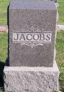JACOBS, HEADSTONE - Sioux County, Iowa | HEADSTONE JACOBS