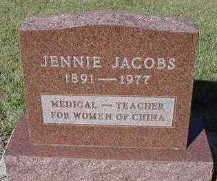JACOBS, JENNIE - Sioux County, Iowa | JENNIE JACOBS
