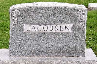 JACOBSEN, HEADSTONE - Sioux County, Iowa | HEADSTONE JACOBSEN