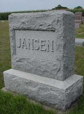 JANSEN, HEADSTONE - Sioux County, Iowa | HEADSTONE JANSEN