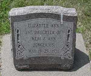 JONGERIUS, ELIZABETH ANN - Sioux County, Iowa   ELIZABETH ANN JONGERIUS