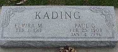 KADING, ELVIRA M. (MRS. PAUL) - Sioux County, Iowa | ELVIRA M. (MRS. PAUL) KADING