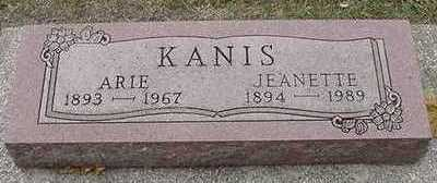 KANIS, JEANETTE (MRS. ARIE) - Sioux County, Iowa | JEANETTE (MRS. ARIE) KANIS