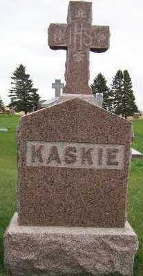 KASKIE, HEADSTONE - Sioux County, Iowa | HEADSTONE KASKIE