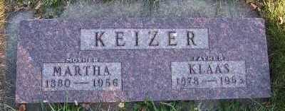 KEIZER, KLAAS - Sioux County, Iowa | KLAAS KEIZER