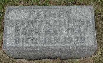 KEMPERS, GERRIT  D. 1929 - Sioux County, Iowa | GERRIT  D. 1929 KEMPERS