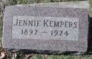 KEMPERS, JENNIE - Sioux County, Iowa | JENNIE KEMPERS
