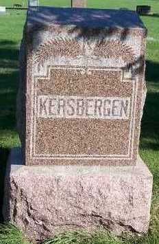 KERSBERGEN, HEADSTONE - Sioux County, Iowa | HEADSTONE KERSBERGEN