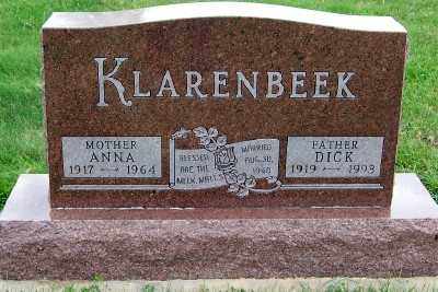 KLARENBEEK, ANNA - Sioux County, Iowa | ANNA KLARENBEEK