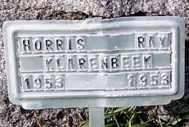 KLARENBEEK, HORRIS RAY - Sioux County, Iowa | HORRIS RAY KLARENBEEK