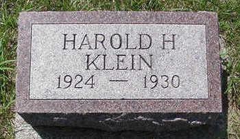 KLEIN, HAROLD H. - Sioux County, Iowa | HAROLD H. KLEIN