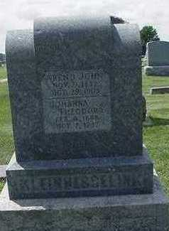 KLEINHESSELINK, JOHANNA THEODORA - Sioux County, Iowa | JOHANNA THEODORA KLEINHESSELINK