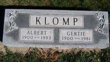 KLOMP, GERTIE - Sioux County, Iowa | GERTIE KLOMP