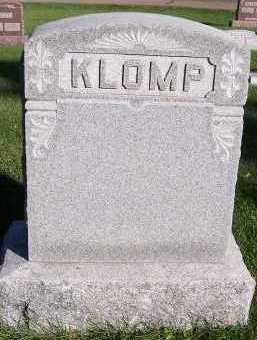 KLOMP, HEADSTONE - Sioux County, Iowa | HEADSTONE KLOMP
