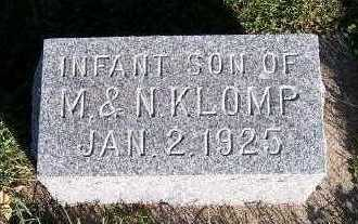 KLOMP, INFANT SON OF M. & N. - Sioux County, Iowa | INFANT SON OF M. & N. KLOMP