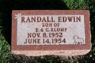 KLOMP, RANDALL EDWIN - Sioux County, Iowa | RANDALL EDWIN KLOMP
