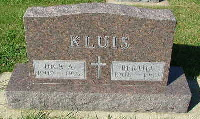 KLUIS, BERTHA (MRS. DICK A. ) - Sioux County, Iowa | BERTHA (MRS. DICK A. ) KLUIS