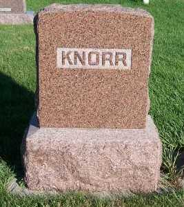 KNORR, HEADSTONE - Sioux County, Iowa | HEADSTONE KNORR