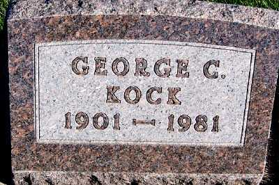KOCK, GEORGE C. - Sioux County, Iowa | GEORGE C. KOCK