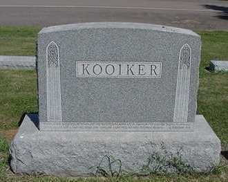 KOOIKER, HEADSTONE - Sioux County, Iowa | HEADSTONE KOOIKER