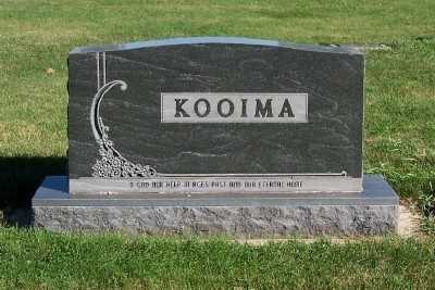 KOOIMA, HEADSTONE - Sioux County, Iowa | HEADSTONE KOOIMA