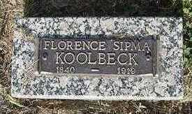 KOOLBECK, FLORENCE - Sioux County, Iowa | FLORENCE KOOLBECK