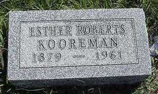 ROBERTS KOOREMAN, ESTHER - Sioux County, Iowa | ESTHER ROBERTS KOOREMAN