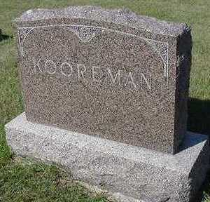 KOOREMAN, HEADSTONE - Sioux County, Iowa | HEADSTONE KOOREMAN